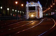 Budapest-best the trams ever looked Budapest Christmas, Light Rail, Hungary, Cities, Cable, To Go, Europe, Spaces, Lights