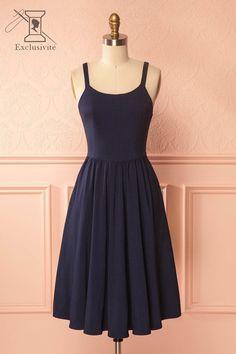 Carey Black 1950s Inspired A-Line Midi Dress | Boutique 1861