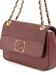 818661eec5 Love Moschino Handbag - Burgundy Chocolate Quilted Flap Bag