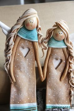 Salt dough by Paulina Silarow/ OGdesign anioły i figurki-Anielskie Przyjaciółki - Boże Narodzenie