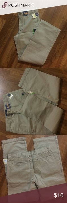 Cherokee ultimate school uniform pants Nice boys pants,ultimate Khaki Cherokee Bottoms