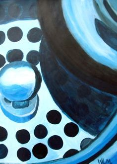 Non-objective Monochromatic Painting - Conway High School Art Project
