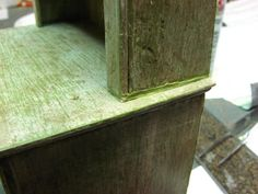 Dollhouse Miniature Furniture - Tutorials | 1 inch minis: How to make a kitchen dresser with mat board