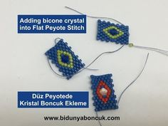 In this video, the unique number is explained by adding a bicone crystal in the flat dot. Bead Crochet Patterns, Seed Bead Patterns, Beading Patterns, Bead Embroidery Jewelry, Beaded Embroidery, Beaded Jewelry, Beading Techniques, Beading Tutorials, Beaded Brooch