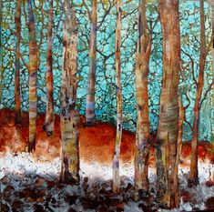 Encaustics | Art by Louise Tranquil Grove I just love her art work