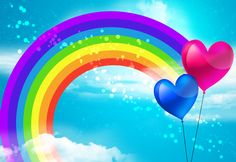 """Article: """"Space Clearing with Reiki"""" Rainbow Images, Rainbow Art, Rainbow Colors, Rainbow Cartoon, Blue Sky Background, Rainbow Wallpaper, Field Wallpaper, Hd Wallpaper, Heart Balloons"""