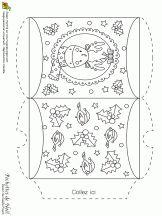 Pochette de Noël, renne et décorations