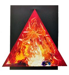 "Aspiring Flame Acrylic on canvas 24""  x 26"""
