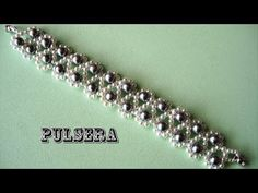 DIY- Pulsera facil de perlas grises DIY- Easy pearl bracelet gray - YouTube