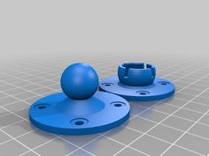 printer design printer projects printer diy PRINT PRINT Customizable Ball-and-Socket Mount by - Thingiverse you can find simi. 3d Printer Designs, 3d Printer Projects, Arduino Projects, 3d Projects, Useful 3d Prints, Home Decor Hooks, 3d Printing Technology, Medical Technology, Energy Technology