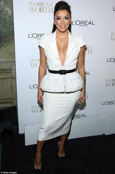 c5d3d61463 Charity and glamour  Eva Longoria looked great as she attended the L Oreal  Paris
