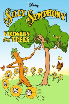 Happy Anniversary to Flowers and Trees! The Silly Symphony was the first Disney film to be made in color. 1930s Cartoons, Classic Cartoons, Disney Posters, Disney Cartoons, Vintage Cartoon, Vintage Comics, Disney Magical World, Merrie Melodies, Disneyland California
