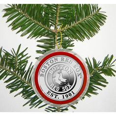 Boston Red Sox Silver Coin Ornament