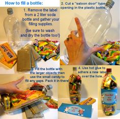 gifts in a bottle instructions;
