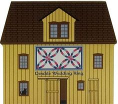 Cat's Meow Village Double Wedding Ring Quilt Barn #14-513 Shipping Discounts #CatsMeowFJDesigns