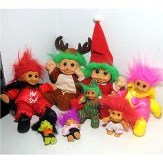 Troll Dolls-Always loved the pink hair trolls