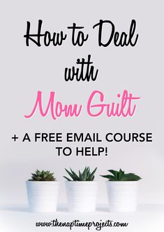 """Mom guilt pulls moms down with the weight of all of the """"shoulds"""" in our lives. We live under this mound of guilt that makes it hard to parent. It's time that we start learning to deal with mom guilt and get our lives back. #parenting #motherhood #momlife"""