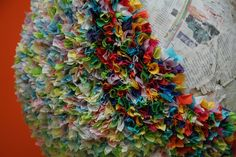 Decorating with crepe paper - Piñata Boy Crepe Paper Streamers, Tissue Paper, Paper Mache, Step By Step Instructions, Make Your Own, Felt, Crafts, Mistakes, Bright Colors