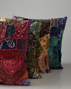 Vintage Sari Pillow at Horchow.