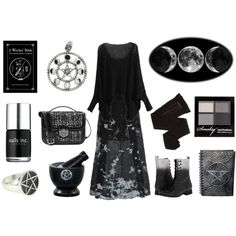 Fade to Black by maggiehemlock on Polyvore featuring polyvore fashion style Raquel Allegra Trasparenze Diesel H&M Nails Inc. Alexander McQueen