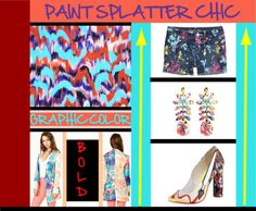 """2013 Trend - Paint Splatter Chic"" by latoyacl ❤ liked on Polyvore"
