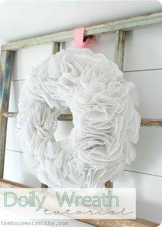DIY Doily Wreath Tutorial