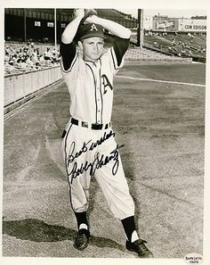 "Bobby Shantz Philadelphia A's Autographed 8x10 Photograph 1949-1964 Rare SL SOA . $25.00. Philadelphia A's PitcherBobby ShantzHand Signed 8x10"" Black White PhotographPhiladelphia / Kansas City Athletics (1949-1956)New York Yankees (1957-1960)Pittsburgh Pirates (1961)Houston Colt .45's (1962)St. Louis Cardinals (1962-1964)Chicago Cubs (1964)Philadelphia Phillies (1964).WONDERFUL AUTHENTIC BASEBALL COLLECTIBLE!!AUTOGRAPH GUARANTEED AUTHENTIC BY SPORTS LOT, INC. WITH NUMB..."