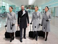 Despite the hassles of flying these days, there remains a fashionable element to the chaos: Smart airline uniforms, designed by some of the industry's coolest names.