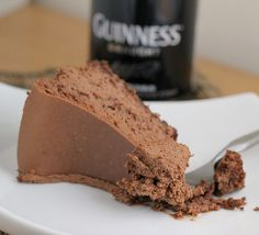 Guinness Chocolate Cheesecake - You have to scroll all the way down to get to the recipe