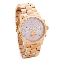 Michael Kors Runway Watch ($240) ❤ liked on Polyvore featuring jewelry, watches, water resistant watches, chronograph watch, michael kors watches, michael kors jewelry and polish jewelry