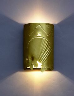 Armadillo sconce by Texas Lightsmith model RKWS-MED