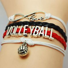 WHO LOVES Volleyball?! Show your Pride for Volleyball with this charm bracelet. Absolutely adorable, you'll be in a hurry to show it off to your friends and fam