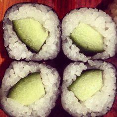 Cucumber rolls. Cucumber Rolls, Small Things, Grains, Rice, Food, Cucumber Roll Ups, Essen, Meals, Seeds