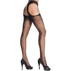 Suspender Pantyhose Black