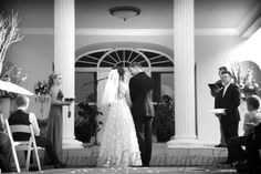 Garden Wedding at a Mansion ... what a setting! - Bertus & Elsabe's Wedding - www.SeeOneSoul.org