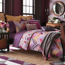 Purple comforter sets in various styles, prints and sizes. There is a purple comforter set for everyone. Comforter Sets, Duvet Sets, Duvet, Bed, Purple Bedrooms, Duvet Cover Sets, Bedroom Decor, Duvet Covers, Eclectic Bedroom