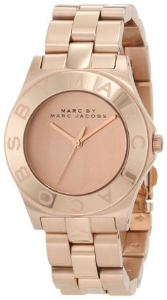 Marc by Marc Jacobs Blade Rose Dial Rose Gold Ion-plated Ladies Watch MBM3127