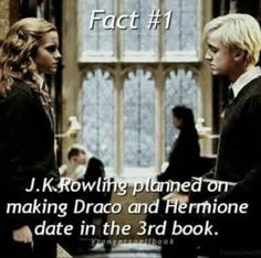 This would've added an amazing dynamic between Harry and Ron and hermoine like imagine the shock of Harry and Ron when hermoine said she was dating Draco it would been great let's release this book and add this in 😂 Draco Harry Potter, Harry Potter Ships, Harry Potter Universal, Harry Potter World, Dramione, Draco And Hermione, Draco Malfoy, Severus Snape, Ron Weasley