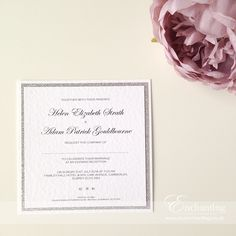 Silver Wedding Invite