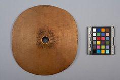 Spindle whorl, maple, 3.1 cm x 121.6 cm x 19.2 cm.    Culture    Coast Salish  :   Quwutsun'   ?    Place made    Canada: British Columbia, Koksilah ?