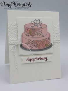 Stampin Up! Cake Soiree Birthday Card for Stamp Ink Paper – Stamp With Amy K