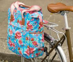 From floral to space age, check out the prettiest pannier bags for your bicycle.