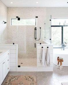 95 modern farmhouse master bathroom renovation with delta the process & reveal 52 Big Bathrooms, Modern Bathroom, Small Bathroom, Bathroom Canvas, Bathroom Mirrors, Bathroom Cabinets, White Bathroom, Bathroom Hardware, Bathroom Fixtures