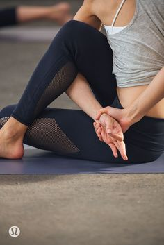 seated twist | yoga