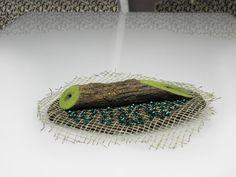textile brooch pin nature jewelry vegan jewelry by VESNAfiberART