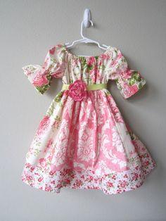 Rose Garden Half Sleeve Easter Dress by crocodilecrunch on Etsy, $50.00