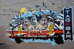 Two Tasty New Murals for TAG Burger Bar from Denver's Like Minded ...