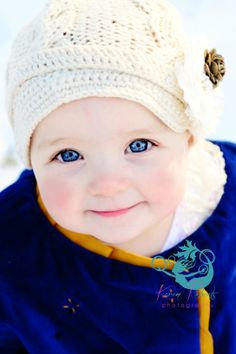 Karen Roberts Photography baby in snow 12 month session