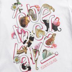 Girls White Cotton Animal Print T-Shirt - Tops - Girl | Childrensalon