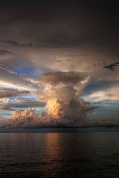 pyrocumulus cloud from volcano - hot air is forced down and along the surface of ground or water, incinerating everything in its path.